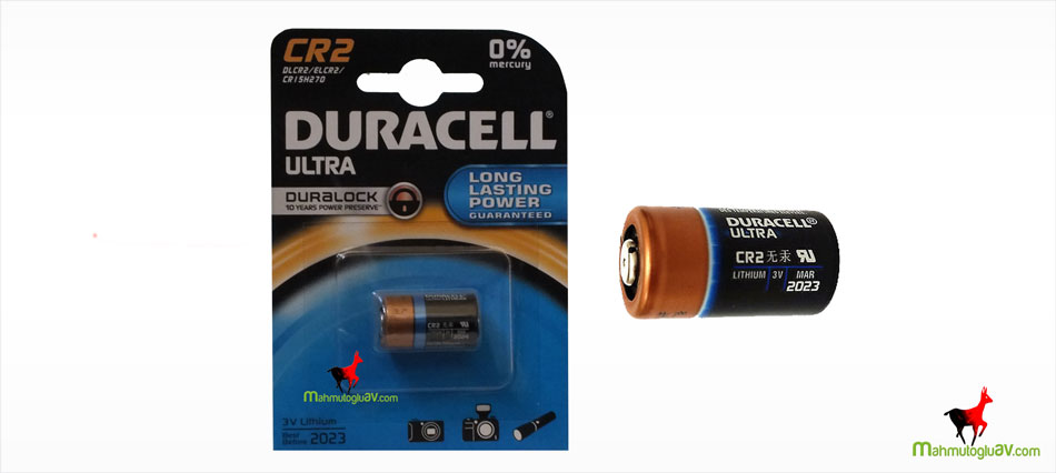 Duracell 2023 CR2 3v lithium digital kamera pili