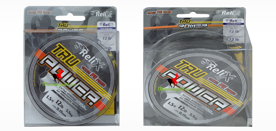 Relix tru power 100 m 0,19 mm 5,5 kg çeker ip misina